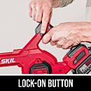 Lock-on button