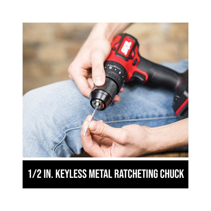 1/2 IN. keyless metal ratcheting chuck
